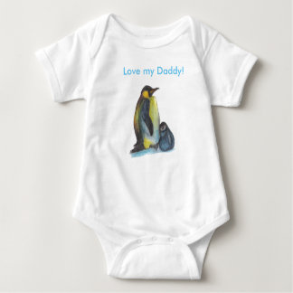Father's Day Penguins drawing Baby   Bodysuit