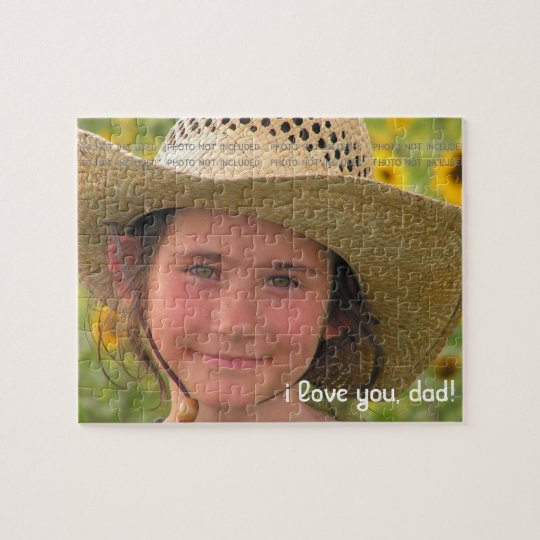 Fathers Day Photo Love You Dad Personalised Jigsaw