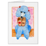 Father's Day Poodle Pampering Greeting Card