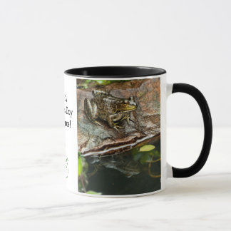 Father's Day Prince Frog Photo with Text Mug
