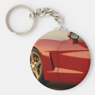 Father's Day Red Corvette Key Ring