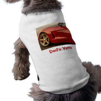 Father's Day Red Corvette Sleeveless Dog Shirt
