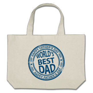 Father's day rubber stamp effect canvas bag