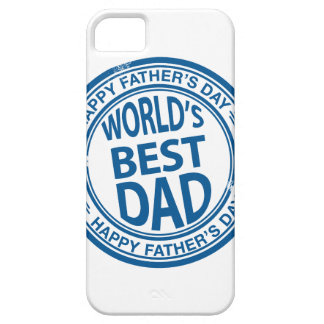 Father's day rubber stamp effect iPhone 5 cover