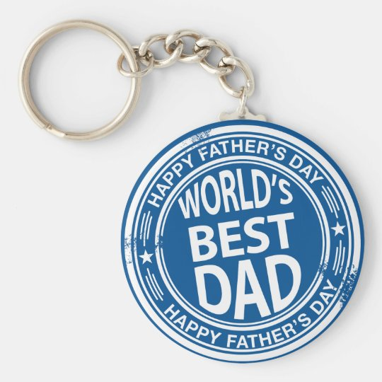 Father's day rubber stamp effect -white- basic round