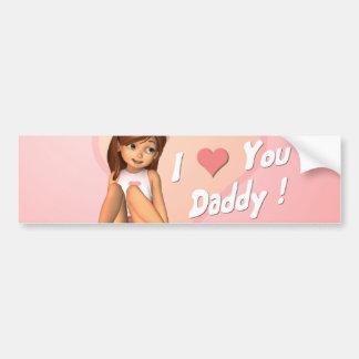 Fathers Day Sadie Bumper Sticker Car Bumper Sticker