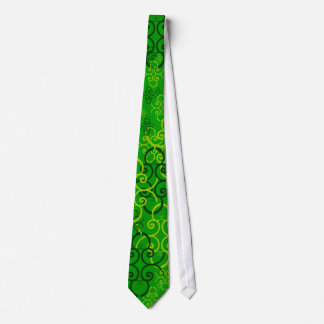 Father's Day Scrollwork and Hearts in Lucky Green Tie