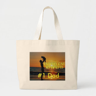Fathers Day Sentiments Jumbo Tote Bag