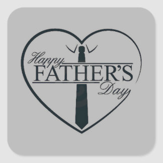 Fathers Day Smart Grey Square Sticker