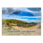 FATHER'S DAY -SON-in-Law - BEACH/OCEAN/DUNES/SCENE Card