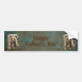 Fathers Day - Stone Paws - Afghan Bumper Sticker