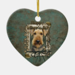 Fathers Day - Stone Paws - Airedale Christmas Ornament