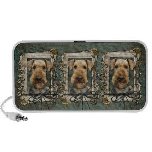 Fathers Day - Stone Paws - Airedale Mini Speakers