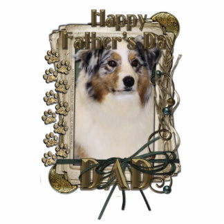 Fathers Day - Stone Paws - Australian Shepherd Dad Photo Cut Out