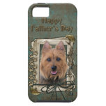 Fathers Day - Stone Paws - Australian Terrier iPhone 5 Covers
