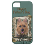 Fathers Day - Stone Paws - Australian Terrier iPhone 5 Cover