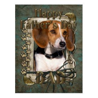 Fathers Day - Stone Paws - Beagle Postcard