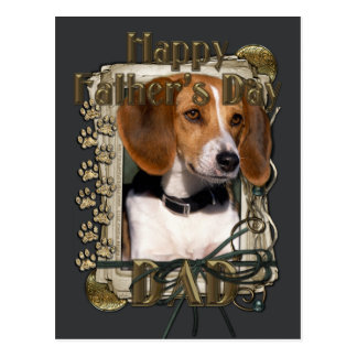 Fathers Day - Stone Paws - Beagle Post Card