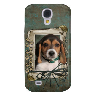 Fathers Day - Stone Paws - Beagle Puppy Galaxy S4 Case