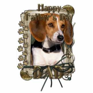 Fathers Day - Stone Paws - Beagle Standing Photo Sculpture