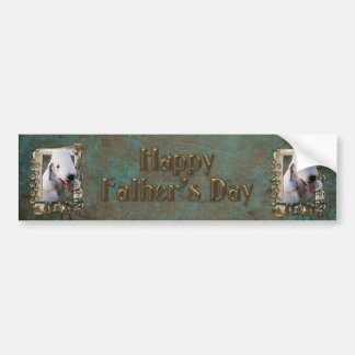 Fathers Day - Stone Paws - Bedlington Terrier -Dad Bumper Stickers