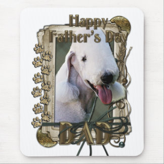 Fathers Day - Stone Paws - Bedlington Terrier -Dad Mouse Pad