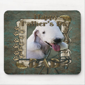 Fathers Day - Stone Paws - Bedlington Terrier -Dad Mousepad