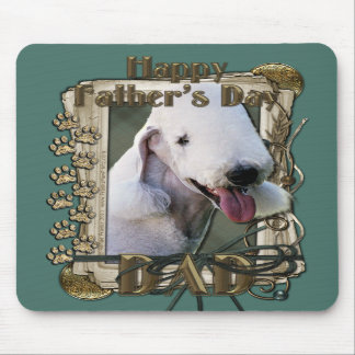 Fathers Day - Stone Paws - Bedlington Terrier -Dad Mousepads