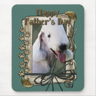 Fathers Day - Stone Paws - Bedlington Terrier Mouse Pad