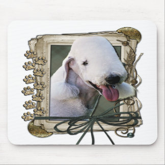 Fathers Day - Stone Paws - Bedlington Terrier Mouse Pads