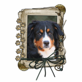 Fathers Day - Stone Paws - Bernese Mountain Dog Standing Photo Sculpture