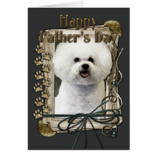 Fathers Day - Stone Paws - Bichon Frise Card