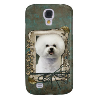 Fathers Day - Stone Paws - Bichon Frise Galaxy S4 Case