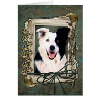 Fathers Day - Stone Paws - Border Collie Card