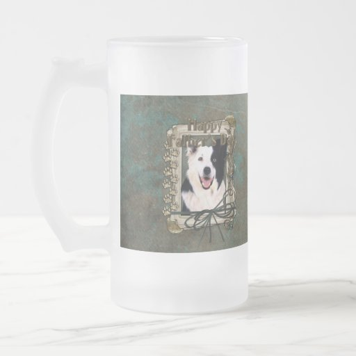 Fathers Day - Stone Paws - Border Collie Frosted Glass Mug