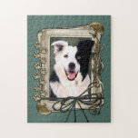 Fathers Day - Stone Paws - Border Collie Jigsaw Puzzle