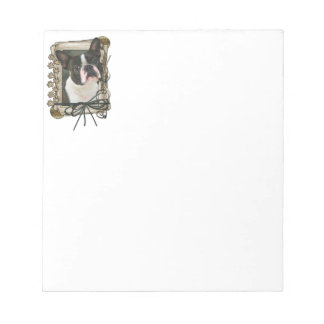 Fathers Day - Stone Paws - Boston Terrier Notepad
