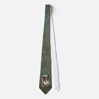 Fathers Day - Stone Paws - Boston Terrier Tie