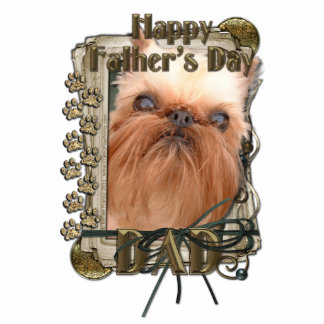 Fathers Day - Stone Paws - Brussels Griffon - Dad Photo Cut Outs