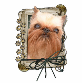 Fathers Day - Stone Paws - Brussels Griffon Standing Photo Sculpture