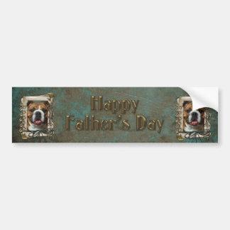 Fathers Day - Stone Paws - Bulldog Bumper Stickers