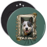 Fathers Day - Stone Paws - Cattle Dog Button