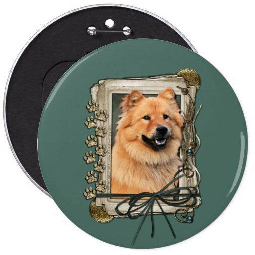 Fathers Day - Stone Paws - Chow Chow 6 Cm Round Badge