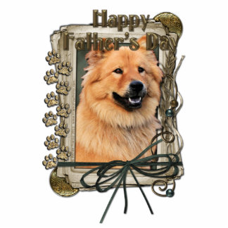 Fathers Day - Stone Paws - Chow Chow - Cinny Standing Photo Sculpture