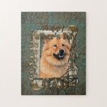 Fathers Day - Stone Paws - Chow Chow Jigsaw Puzzle