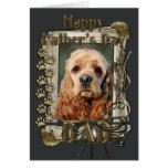 Fathers Day - Stone Paws - Cocker Spaniel Greeting Card