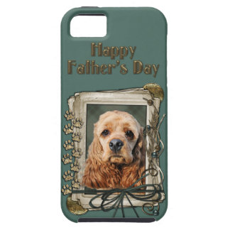 Fathers Day - Stone Paws - Cocker Spaniel iPhone 5 Case