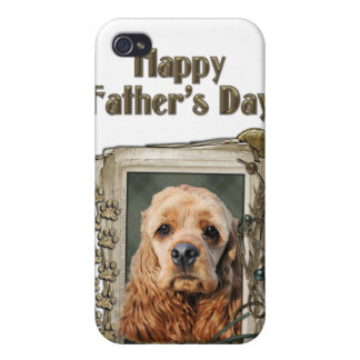 Fathers Day - Stone Paws - Cocker Spaniel iPhone 4/4S Cases
