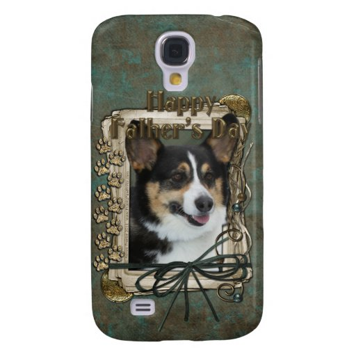 Fathers Day - Stone Paws - Corgi Samsung Galaxy S4 Cover