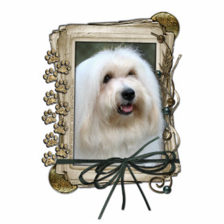 Fathers Day - Stone Paws - Coton de Tulear Cut Out